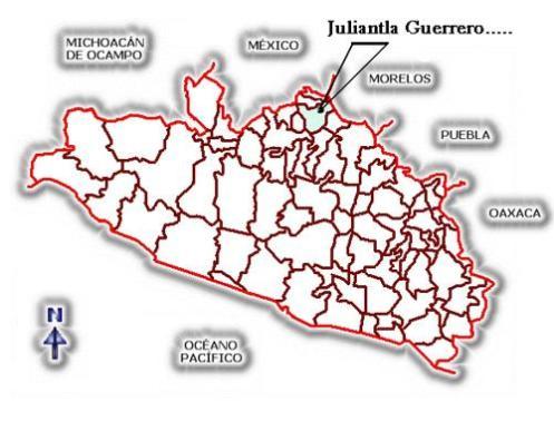 Localizacion de juliantla