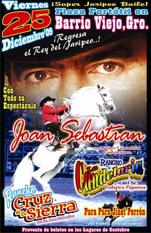 Joan Sebastian en Barrio Viejo Guerrero Dic/25/2009