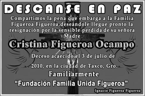 Cristina Figueroa Ocampo QEPD