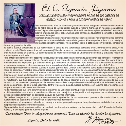 Mesaje Firmado por El General Figueroa