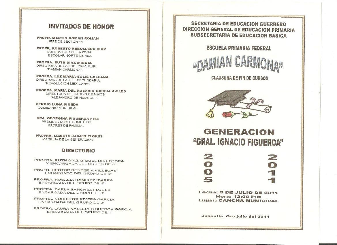 Invitaciones Para Clausura Para Primaria | apexwallpapers.com